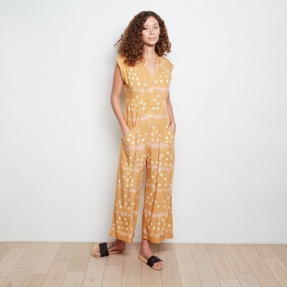 26968b88afdce Anthropologie Pants | The Odells Claudia Yellow Jumpsuit | Poshmark